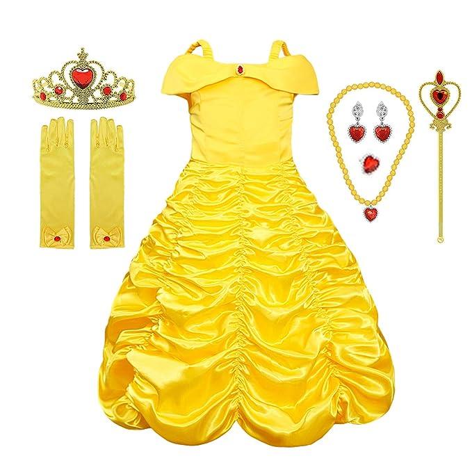 Amazon.com: Vestido de princesa para niña, vestido de fiesta ...