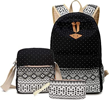 Amazon Com Sunborls Cute Dot Canvas Backpack Girls Lightweight