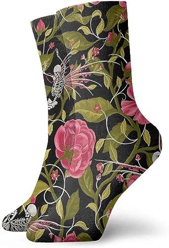 HOKZONB - Calcetines para hombre, diseño de la muerte de
