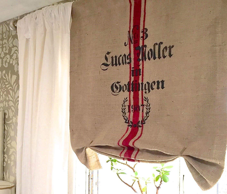Amazon Com Burlap Sack Gottingen Window Curtain Valance Handmade