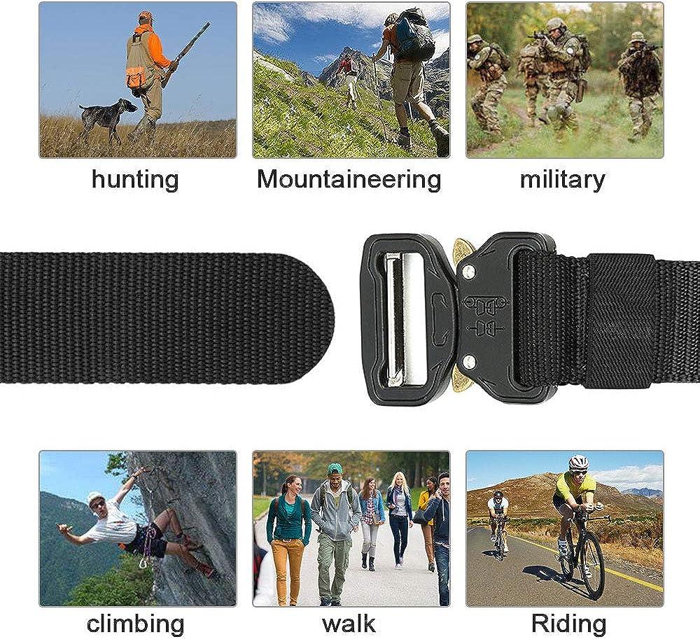 3.8cm Schnellverschluss-Metallschnalle tactical G/ürtel f/ür Outdoor Sport Camping Jagen 130 Nylon Milit/är G/ürtel Hospaop Taktischer G/ürtel Herren