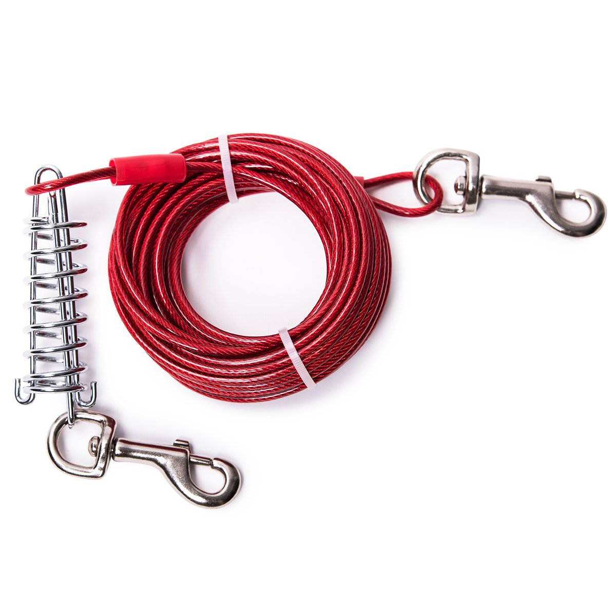 MFPS Favorite Tie Out Cable for Dogs, 30-feet, 3 Colors (Red) by Favorite