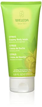 WELEDA Citrus Erfrischungsdusche, belebendes Bio-Duschgel mit Zitonen und Orangen Duft, Pflege-Shampoo für Gesicht, Haut und