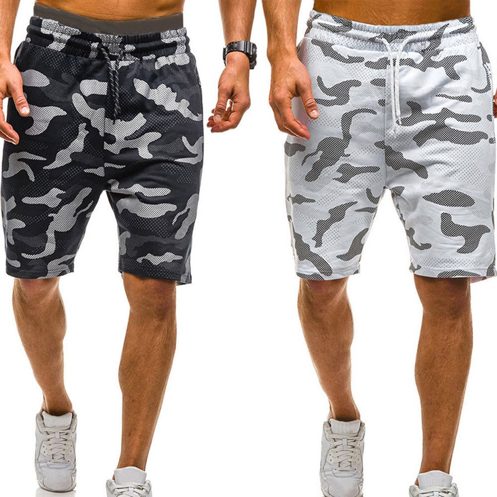 vermers Mens Summer Casual Cargo Shorts 2018 Camouflage Short Pants(XL, Black) by vermers (Image #8)
