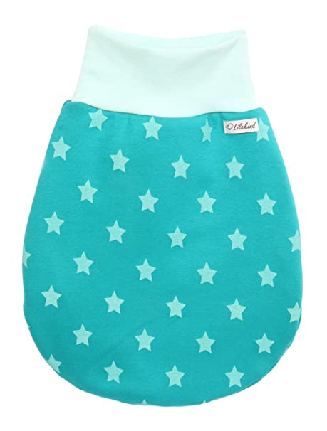 Saco de Dormir Sleeping Saco Lila Niño Jersey Polar Estrellas Mint Petrol de Mano Fabricado en Alemania. Azul Extra-Large: Amazon.es: Ropa y accesorios