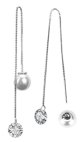 End of Line Clearance 925Sterling Silber Ohrstecker fachmännisch hergestellt mit Drop Süßwasserperle für Frauen