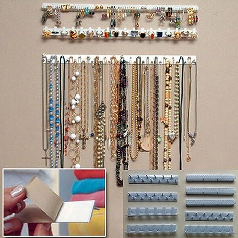 9 en 1 organizador de almacenamiento de joyería autoadhesivo ...