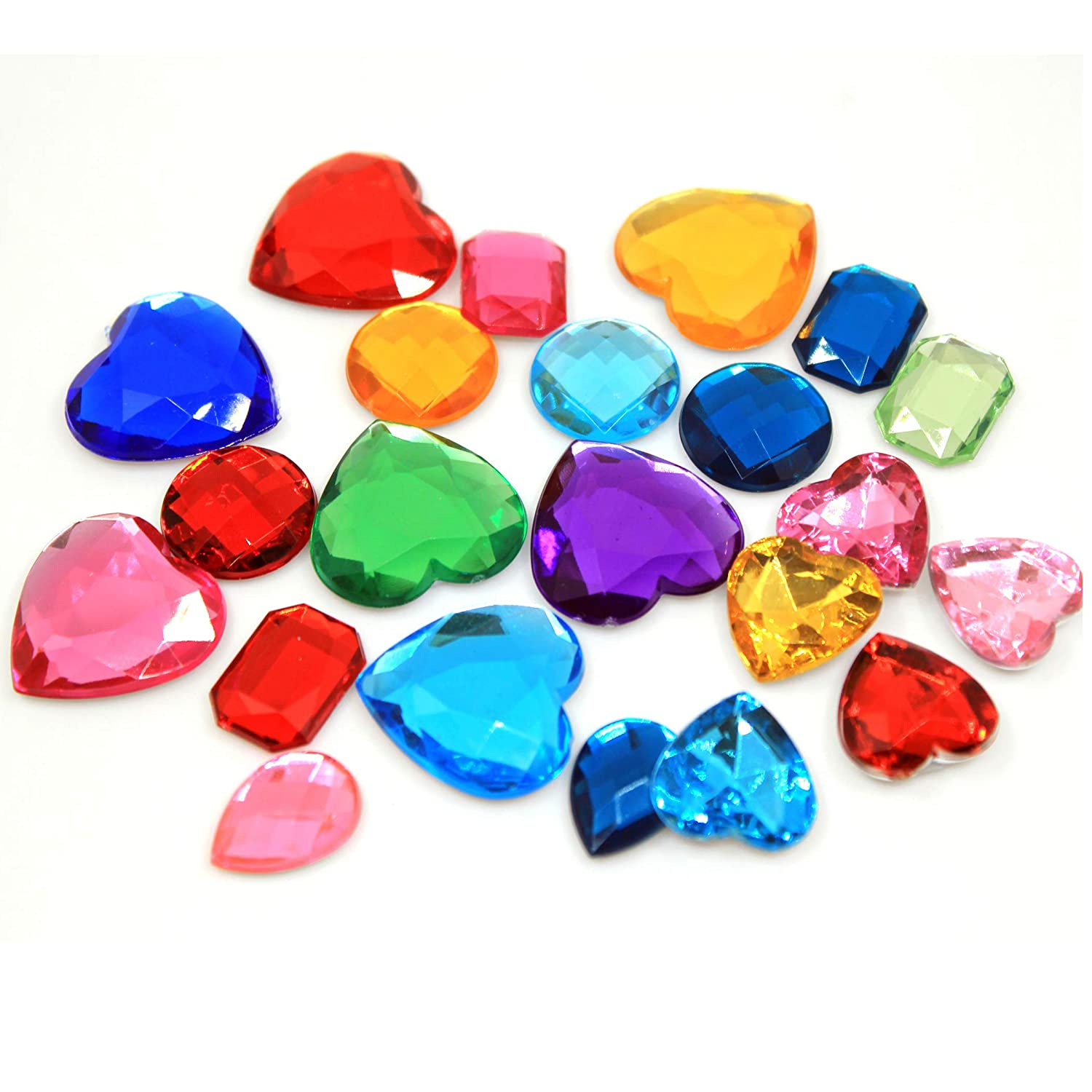 Self Adhesive Craft Jewels Bling Crystal Gem Stickers Assorted Shapes Colors Rhinestone Stickers for Arts & Crafts Projects Pack of 110 Little Koala