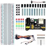 freneci Durable Electronic Component Kits, MB-102 Breadboard Kit Set, Free 2.1mm to PP3 Lead NPN PNP Transistor…