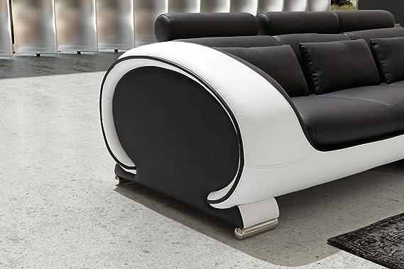 SAM® rinconera Vigo Combi 4 303 x 266 cm negro blanco y ...