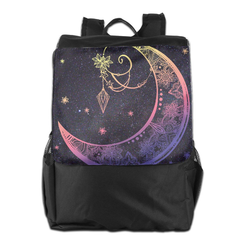 70%OFF Crescent Moon Black Waterproof Travel Backpack Hiking Bags Students School Shoulder Backpacks Multifunctional Unisex Luggage & Travel Bag Backpack