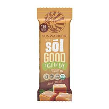 Sunwarrior - Sol Good Protein Bar, Organic, Refined Sugar-Free & Vegan,  Brown Rice, Pea & Quinoa