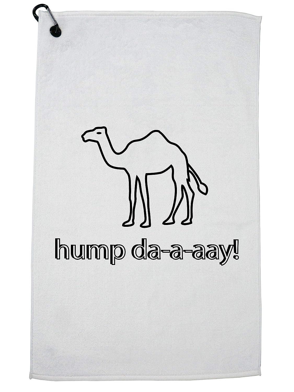 Camel Hump Day 面白い カラビナクリップ付き トレンディ ゴルフタオル   B07GJXGQT8