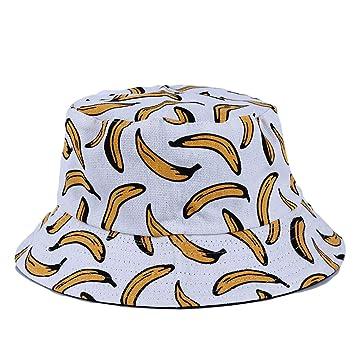 b210450cc32 Amazon.com   LJSLYJ Women Banana 3D Print Bucket Hat Summer Hip Hop  Fisherman Cap Visor Hat
