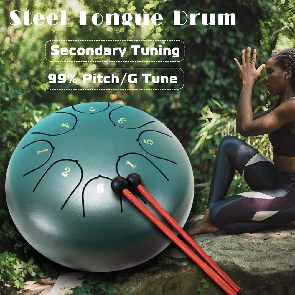 Steel Tongue Drum Empty Drum Instrument with Mallets Percussion Drum for Meditation Yoga