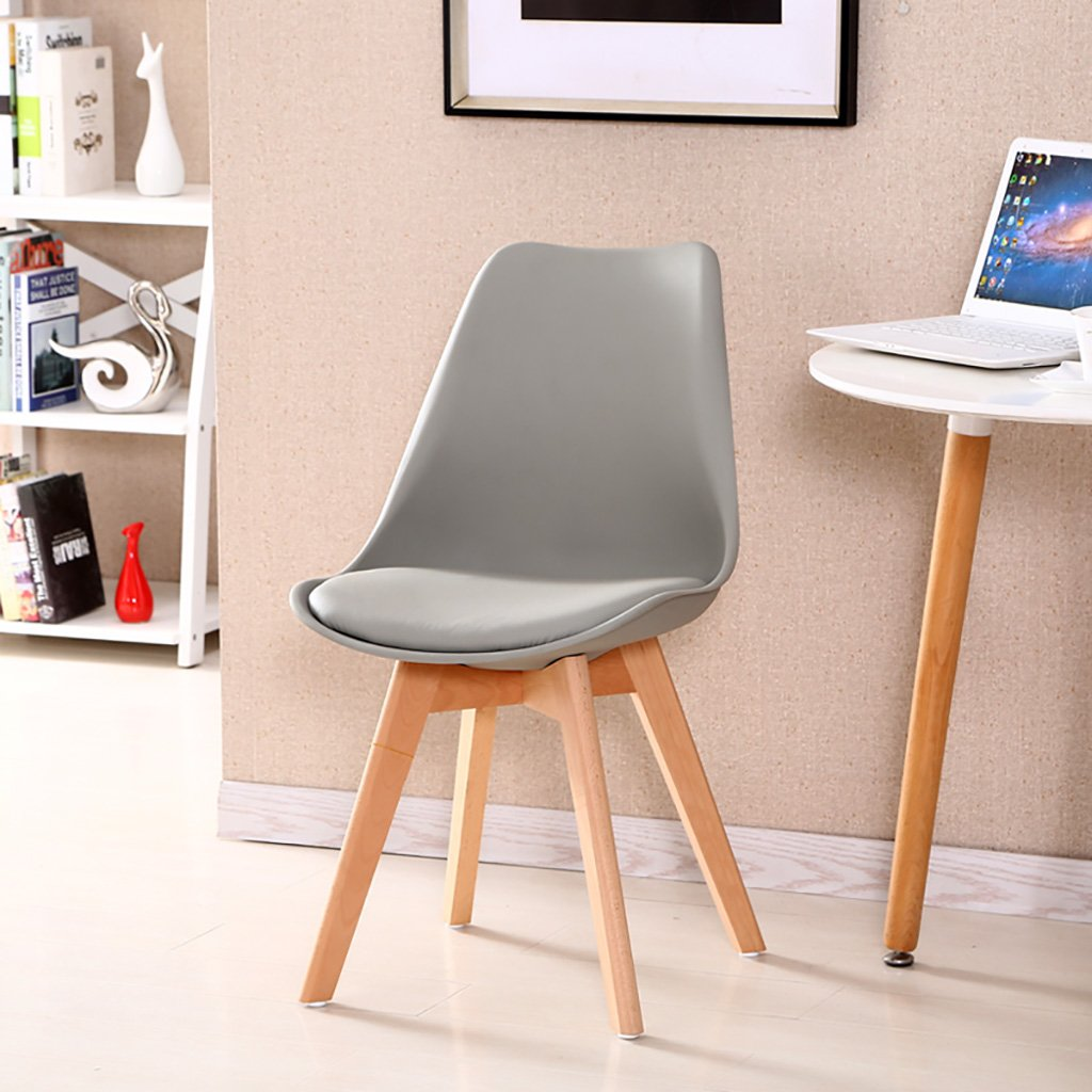 G Simple Retro Conference Chairs Negotiating Chairs Solid Wood Chairs Feet Restaurant Chairs Creative Commercial Plastic Chair Backrest Lounge Chairs Computer Chairs Size  3787cm (color   H)