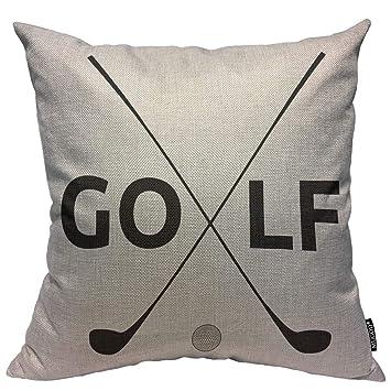 Amazon.com: Mugod - Funda de cojín con diseño de golfista ...