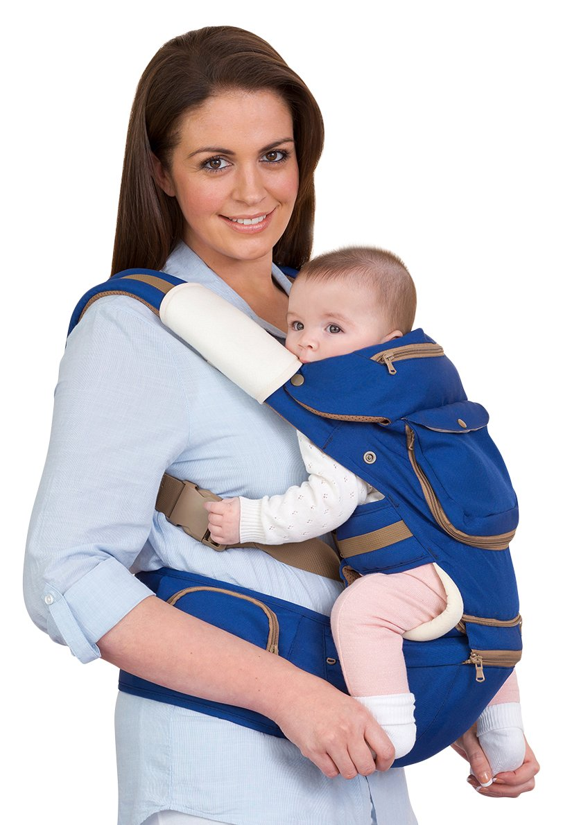ClevaMama Baby and Toddler Hip Seat Carrier (5 Positions, Ergonomic, Approved as Hip Healthy) 7614