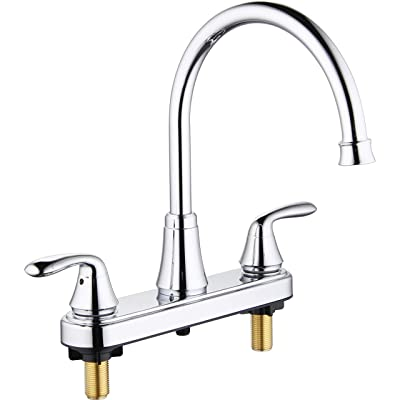 Buy Aquenture Pf6007 Ch Ws 8 Two Handle Kitchen Faucet With Easy Install Quicknut And Side Sprayer Morganite Chrome Online In Turkey B07rft54zc