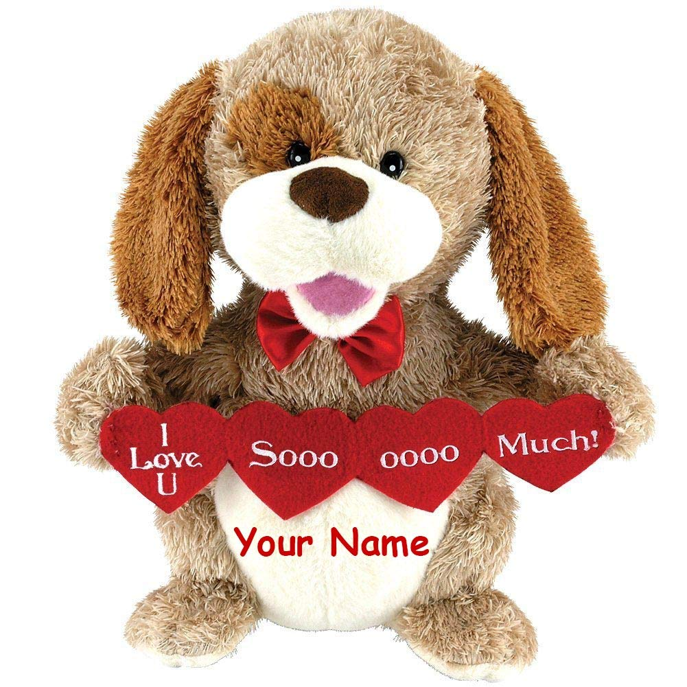 Cuddle Barn Personalized Animated Puppy Love Plush Stuffed Animal Toy Sings Sugar Pie Honey Bun 11.5 Inches by Cuddle Barn