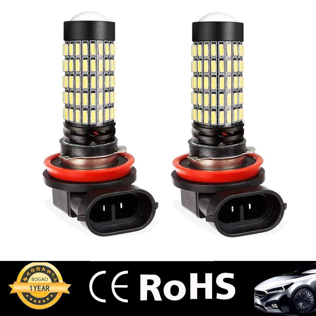 2504 BOGAO haute puissance 1700 lumens 4014 112-SMD super lumineux 6000K blanc 12276 2504 PSX24W 2504 ampoules LED pour le remplacement des lampes antibrouillard