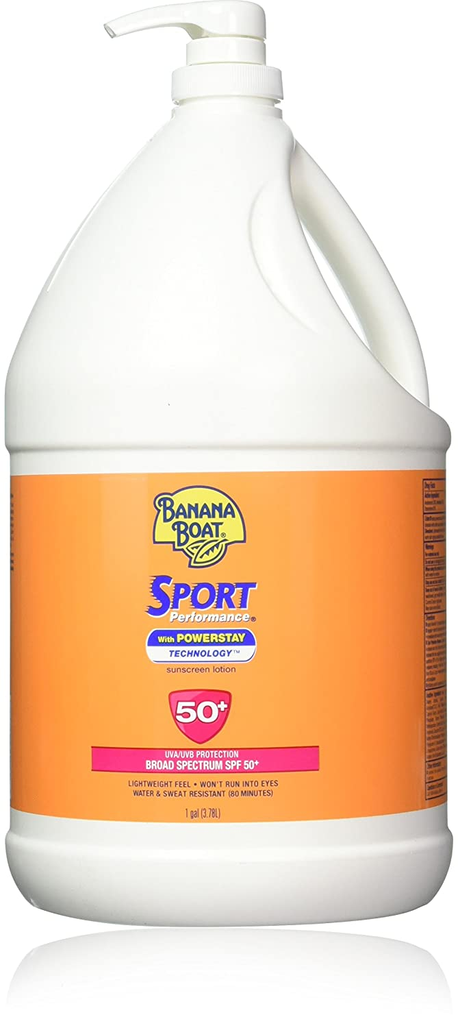 Banana Boat Sport Performance Broad Spectrum Sunscreen Lotion with Powerstay Technology SPF 50 1