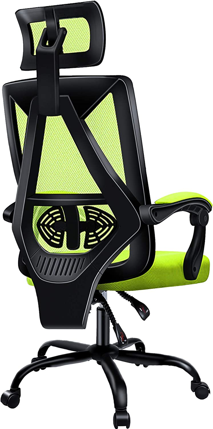 Office Chair PatioMage Ergonomic Home Office Desk Chair Mesh Office Chair with Adjustable Headrest Swivel Computer Chair Lumbar Support High Back Chair for Adults Men Women