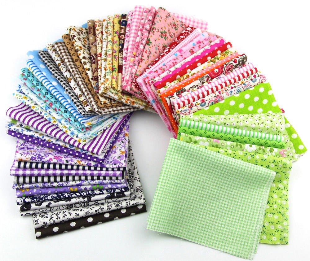 Fabric Patchwork Craft Cotton Material Mixed Squares Bundle 2025cm 15pcs