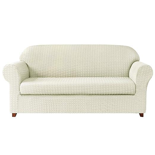 subrtex - Funda de sofá de 2 Piezas, Extensible con ...