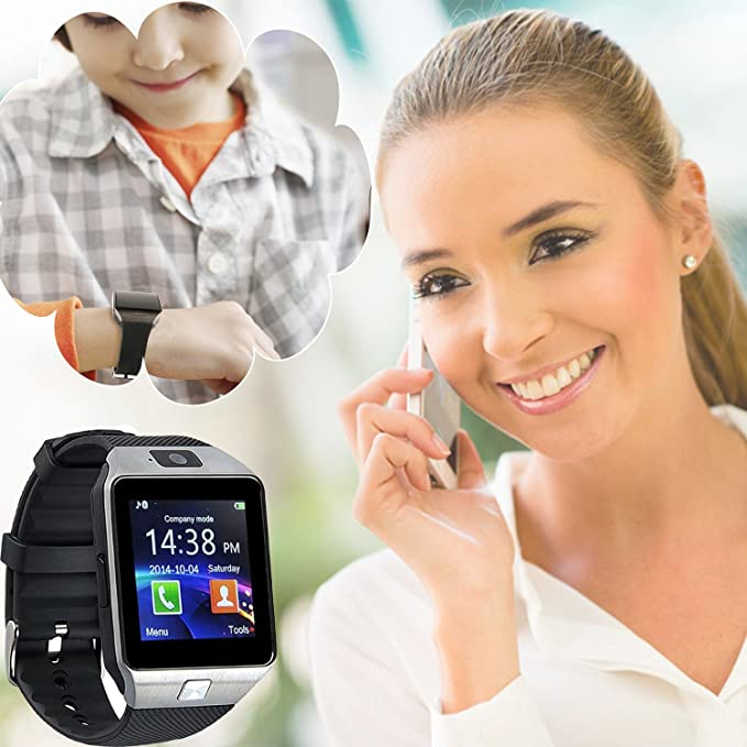 GZDL Bluetooth Smart Watch DZ09 Smartwatch GSM SIM Card With Camera For Android IOS Black by GZDL