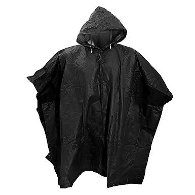 splashmacs unisex lightweight rain poncho one black