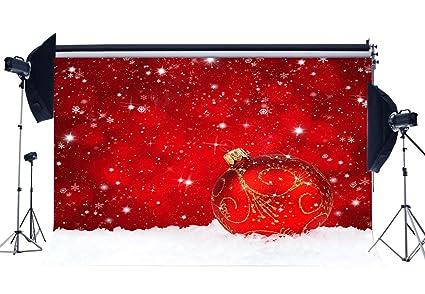 Amazon Com Niuxphoto Christmas Ball Backdrop 10x8ft Red