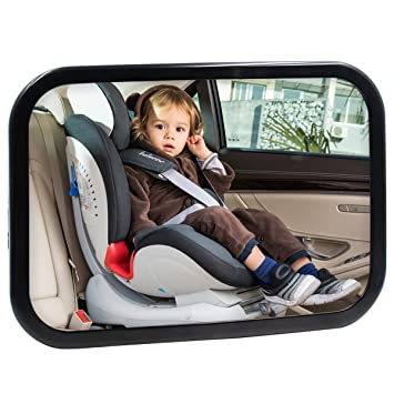 Baby Back Seat Car Mirror View Rear Facing By Hippih No Headrest Expanded