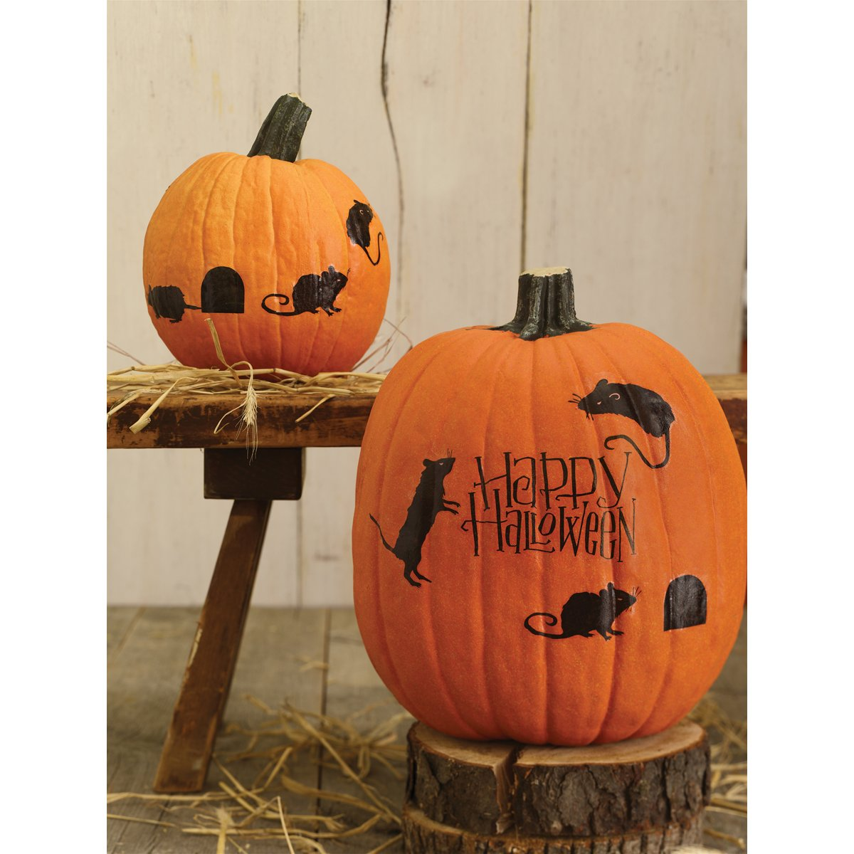 amazoncom martha stewart crafts happy halloween mice pumpkin transfers - Halloween Decorations Martha Stewart