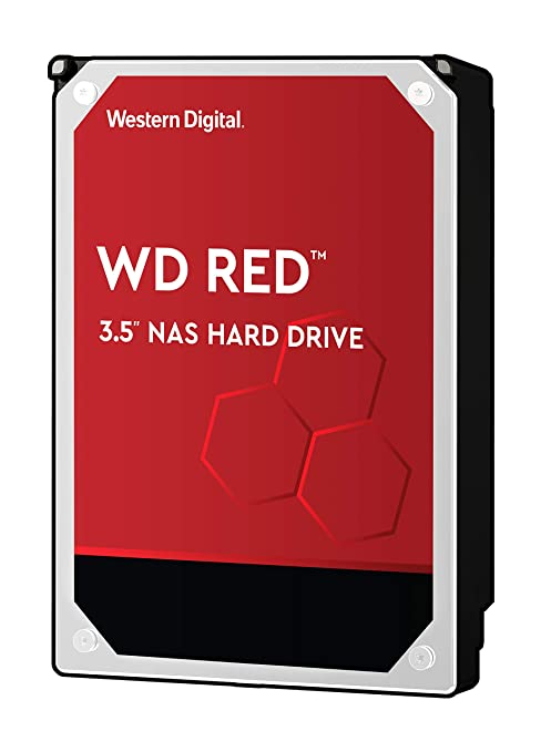 WD Red 10TB NAS Hard Drive - 5400 RPM Class, SATA 6 Gb/s, 256 MB Cache,  3 5