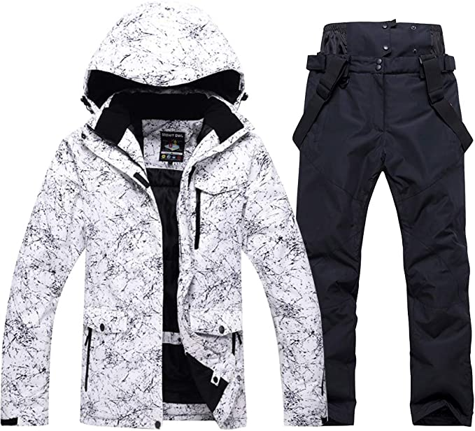 Amazon.com: Chaqueta y pantalones de esquí estampados de ...