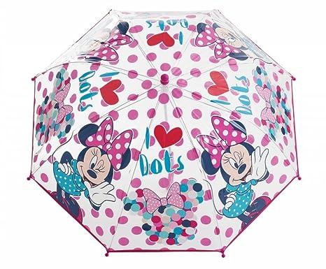 SAMBRO dmm1 – 888 – Paraguas de Minnie burbuja transparente