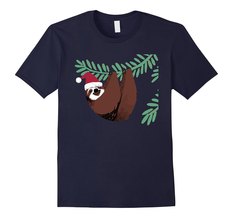 Christmas Sloth T-Shirt Merry Lazy Christmas Tee-Art