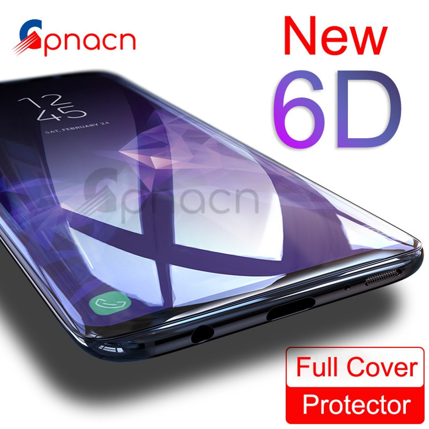 6D Curved Full Screen Cover Tempered Glass for Samsung Galaxy S8 S9 Plus Note 8 – 6D Full Curved Cover Edge Screen Protector – 6D Screen Replacement 9H