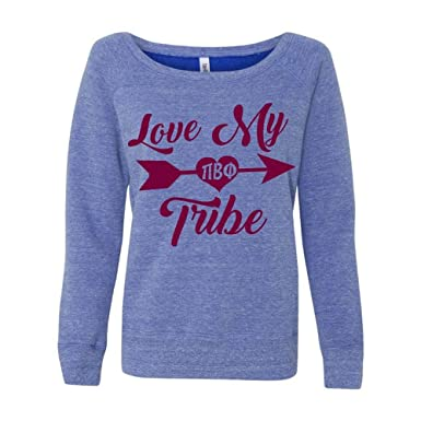 Amazon com: Greekgear Pi Beta Phi My Tribe Wideneck Crew
