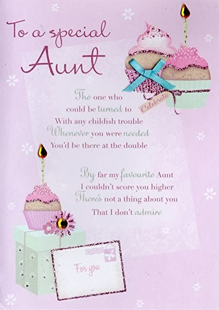 amazon com special aunt birthday greeting card second nature