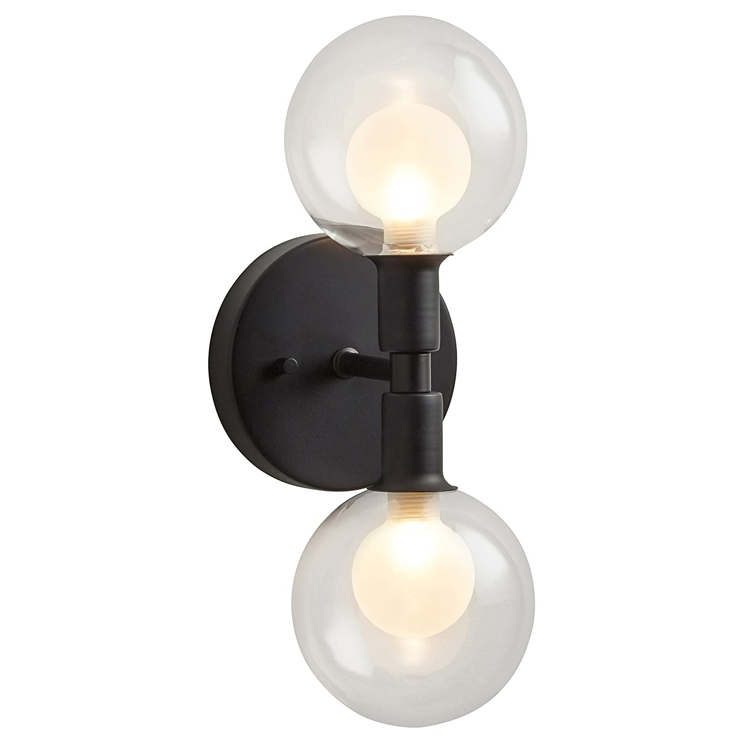 40.5 x 14 x 6.75 Inches 6-48 Inch Cord Rivet Mid-Century Modern Glass Globe Ceiling Pendant Chandelier With 6 Light Bulbs Gold