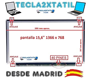 "Pantalla Compatible DE Y para PORTATIL HP 15-R003ns 15,6"" HD 1366"