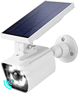 Motion Sensor Solar Security Lights Outdoor JACKYLED LED Solar Powered Flood Lights with 3 Lighting Modes Wireless Wall Mount Spotlights for Garden Porch Patio Front Door Garage Home (White, 1-Pack)