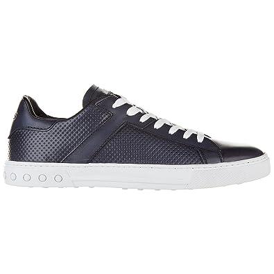 Chaussures baskets sneakers homme en cuir etichetta cassetta Tod's cUIVPEo65