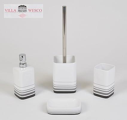 Villa Wesco Cerámica Acero inox. Sets de baño dispensador de jabón cepillo de baño juego
