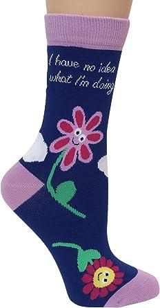 BlueQ Women/'s Crew Socks I Gave A F**k