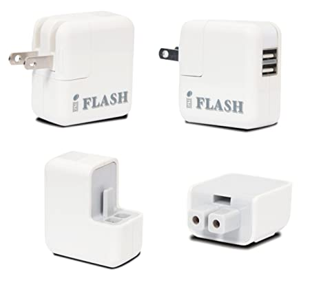 Amazon.com: iFlash Dual USB Port Home/Cargador de pared para ...