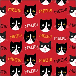 Creative Converting 24 Count Cat Lady Florence Premium Patterned Beverage Napkins, Multicolor