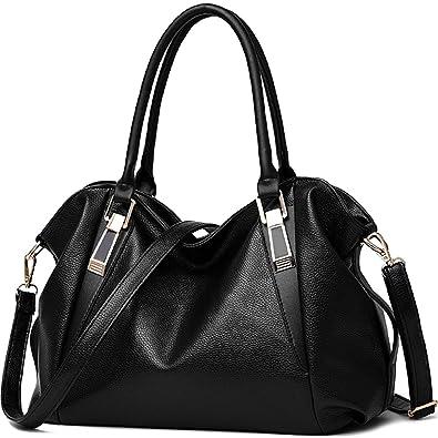 8ea7e5b1d912a Amazon.com  Ladies Fashion Shoulder Bags Women PU Leather Handbags Causal  Hobo Purses Girls Crossbody Tote Bags